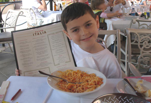 Bo_eating_Italian_Disney
